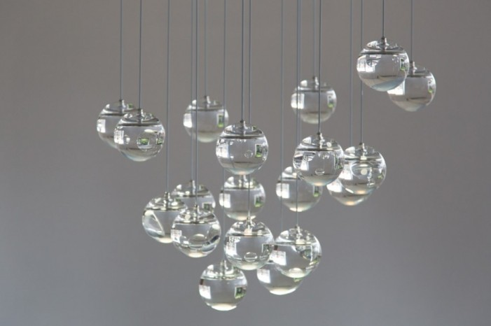 moon oled chandelier