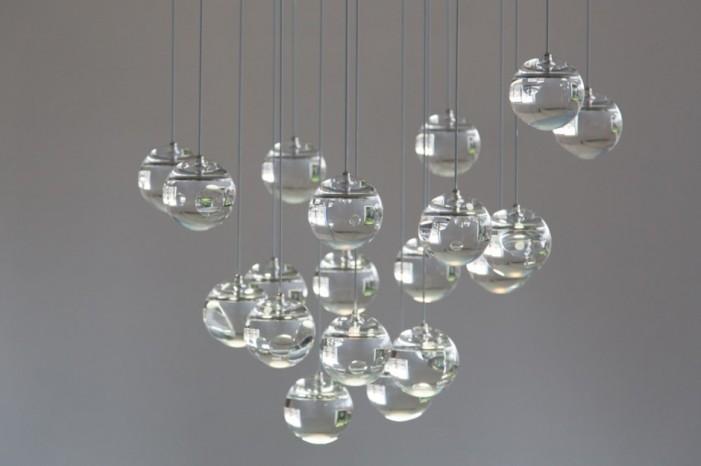 moon oled chandelier