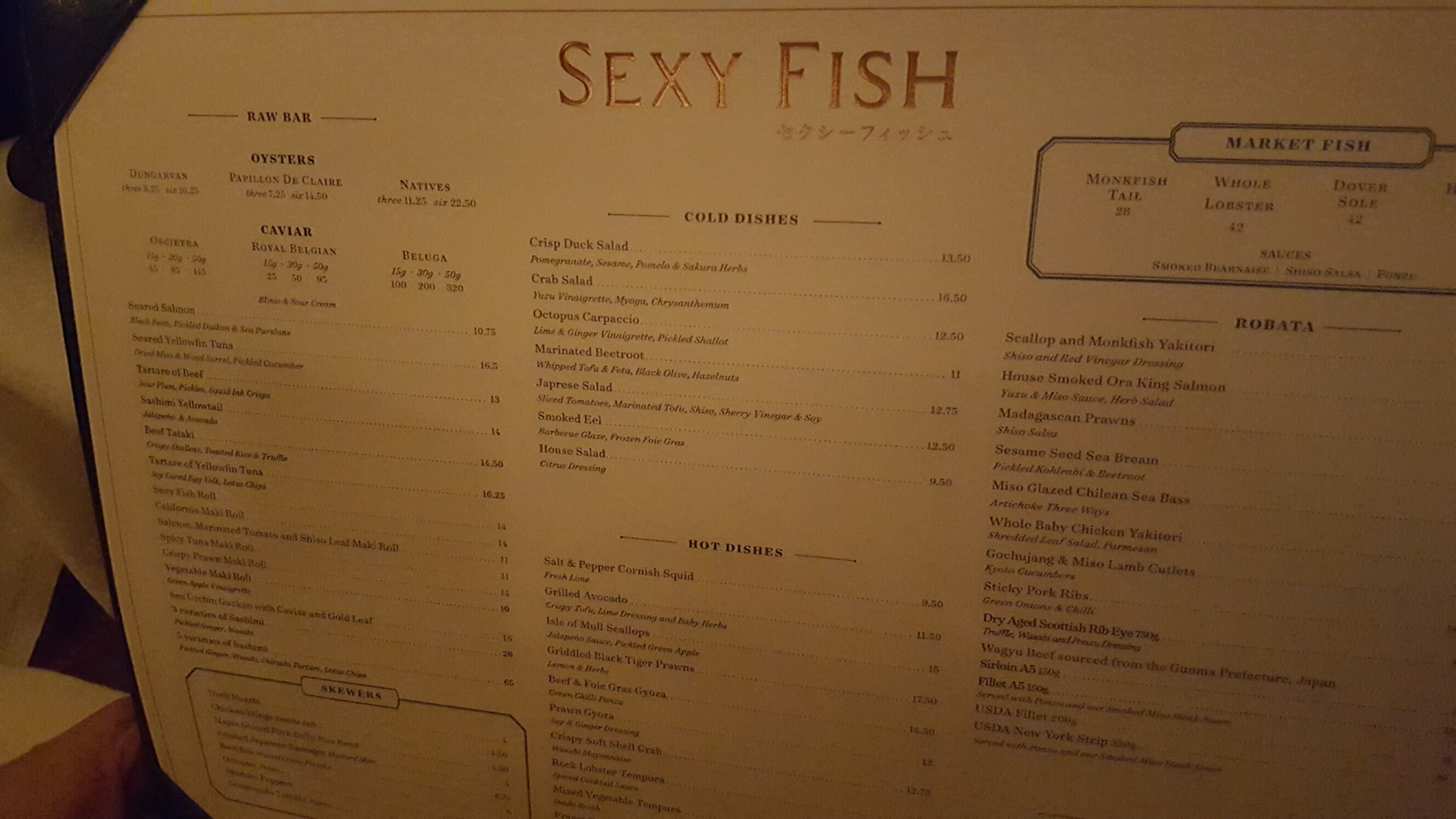 Restaurant review sexy fish notting hill yummy mummy for Fish grill menu